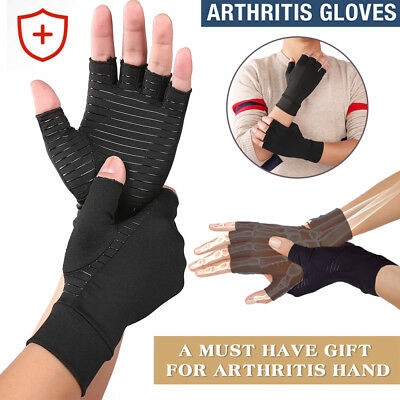 Copper Compression Glove Carpal Tunnel Arthritis Joint Pain Promote Circulation