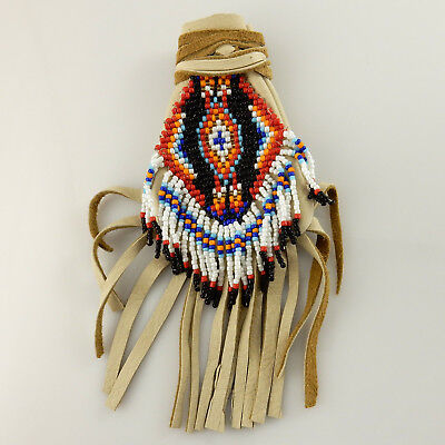 Handmade Native American Navajo Medicine Bag Signed