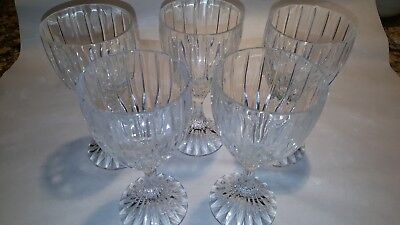 Mikasa Crystal Wine Glasses Giblets 5 Park Lane Excellent 6 1/4 Inches