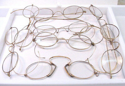 8 Pairs Very Nice Antique Gold Filled Eyeglasses Beautiful Group ...Make Offers