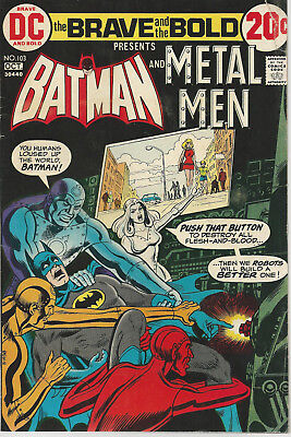 DC OCT #103, The Brave and the Bold, Batman and Metal Man PUSH THAT BUTTON VF