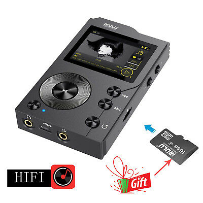 iRULU HiFi MP3 Player Bluetooth 4.0 Lossless Digital Audio Player +16GB SD Card
