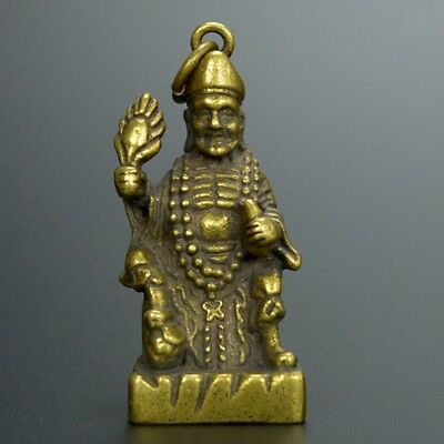Chinese collection handwork Carved bronze Ji Gong Buddha statue /Pendant