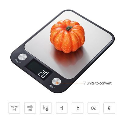 Kitchen Scale Stainless Steel Digital Electric 5Kg/10Kg Accurate Wight Measuring