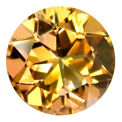 0.59 Ct Incroyable Coupe Ronde (6 X 6 mm) Un-Heated Jaune