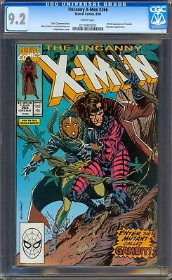 Uncanny X-men 266 CGC 9.2 NM- Marvel 1990 1st appearance of Gambit White Pages