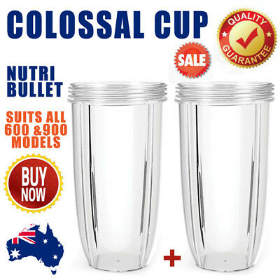 2x NUTRIBULLET COLOSSAL BIG CUP (32OZ) - SUITS All 600/900W Nutri Bullet Models