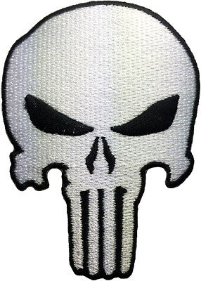 Punisher Skull Sniper Revenge Costume Embroidered Applique Sew Iron on Patch WB