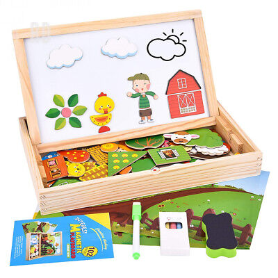 ROOYA BABY Wooden Magnetic Puzzle, 102 Pieces Animals Learning Educational...