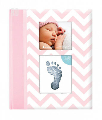 Pearhead First 5 Years Chevron Baby Memory Book with an Included Clean-Touch...