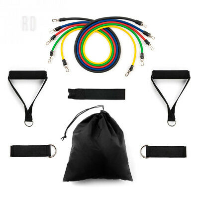 Home Treats 11pc Exercise Resistance Bands Set with Handles, Fitness Stretch...
