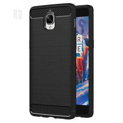 AICEK OnePlus 3/ 3T Case, Black Silicone Cover for One Plus Bumper Covers...