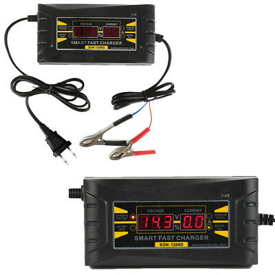 Genuine12V 10A AMP 20~ 150ah 168*78*62mm Smart Car Motorcycle Battery Charger