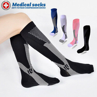 Pairs Compression Socks Medical Travel Running Anti Fatigue Varicose Stockings A