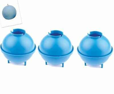 """Linic Set x 3 Sphere Round Candle Moulds 3"""" 75mm dia UK Made S7590"""