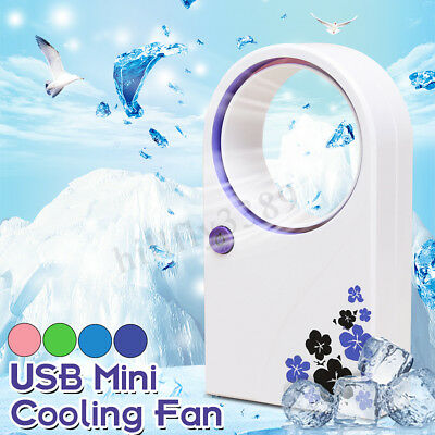 Mini Portable USB Bladeless Wireless Cooling Desk No Leaf Air Conditioner Cooler
