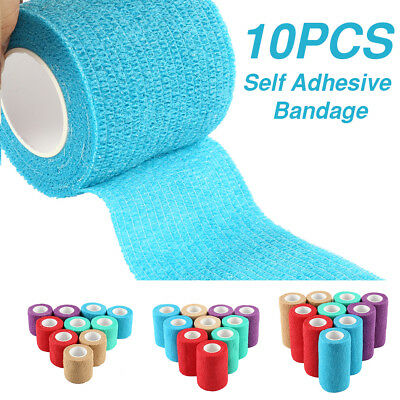 10 X Self-Adhesive Finger Wrap Ankle Elastic Bandage Dressing Tape Sport