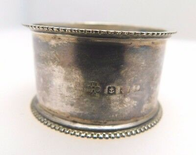 Antique 1918 Sterling Silver Napkin Ring