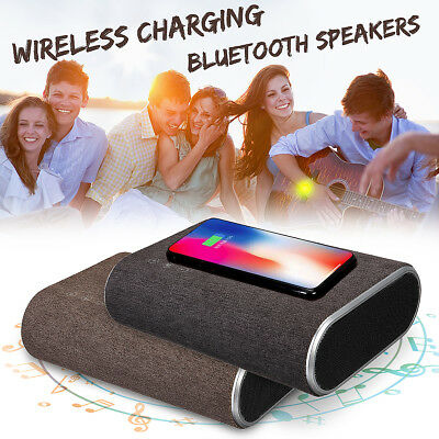 2 IN 1 Fast Qi Charging Charger + Wireless bluetooth V4.0 Speaker Music Player