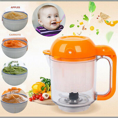 Baby Infant Food Maker Blender Cooker Processer Steam Reheat Defrost Safe