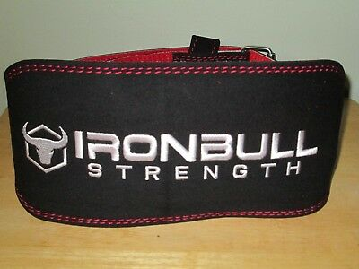 84a70a6508 Iron Bull Strength Weight Lifting Belt - 6-inch Padded Suede Leather Size XL