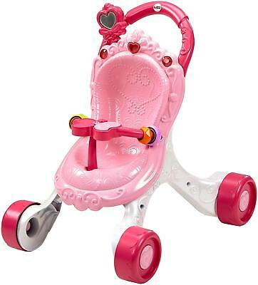 Fisher-Price Princess Mommy Musikspaß Puppenwagen, Lauflernhilfe