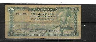 ETHIOPIA #25a 12966 VG CIRC BIRR OLD BANKNOTE PAPER MONEY CURRENCY BILL NOTE