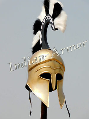 Medieval Wearable Greek Corinthian Helmet Free Leather Liner Knight Helm