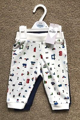 Marks And Spencer 2 Pack Boys Joggers Trousers 6-9 Months
