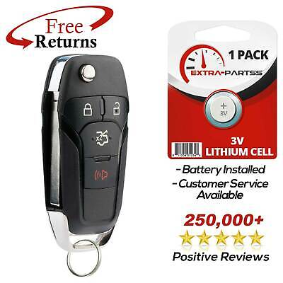 For 2013 2014 2015 2016 Ford Fusion Keyless Entry Remote Flip Key Fob