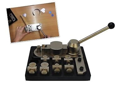 Superior Ring Bender Set on an Aluminium Base, Forming, Shaping Jewellery. J2105