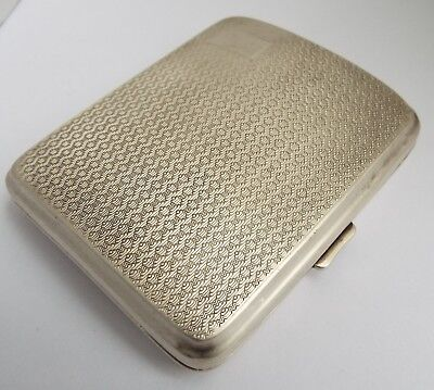 Superb Clean Heavy English Antique 1928 Art Deco Sterling Silver Cigarette Case