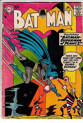BATMAN #113, DC Comics (1958)