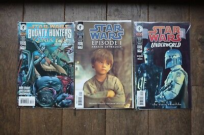 Lot 3 Star Wars En Vo/ttbe/the Bounty Hunter+Anakin Epis.1