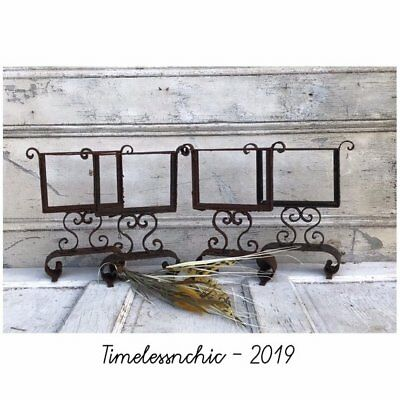 Salvaged Vintage Architectural Iron Stand ~ Chalkboard ~ Frame ~ Price Marker