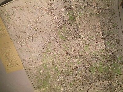"The Chiltern Hills:1St True Postwar Ordnance Map 1"" Scale 1950-59-Railways Close"