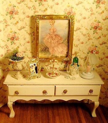 Dollhouse Shabby Chic Sideboard, Stunning Accessories, Includes Reutter, & More