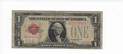 $1 1928 Red Seal Legal Tender 1 Series Type Fine