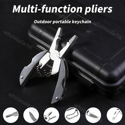 Mini Knife Foldaway Keychain Pocket Multi-Function Tools with Pliers Screwdriver