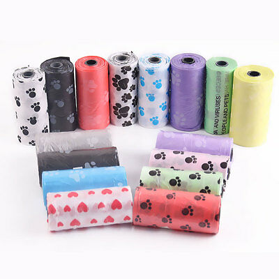 Eco Degradable Pet Waste Poop Bags Dog Cat Clean Up Refill Garbage bag 10 Rolls