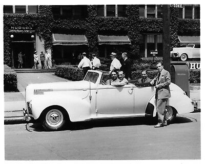 1940 Hudson Convertible Plant ORIGINAL Photo Negative nad5888