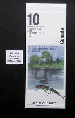 BK145a ~ Face $4.20 ~ Heritage Rivers ~ Pane 1412b ~ Canada Booklet Stamps
