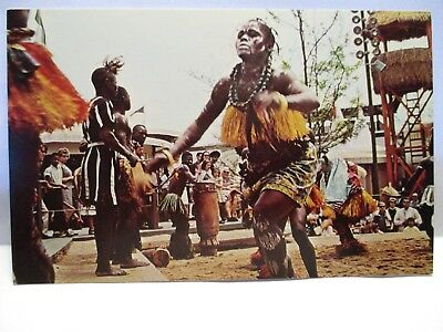 "1964 Africa Pavilion New York Worlds Fair Postcard Female Daces "" The Diagreba """