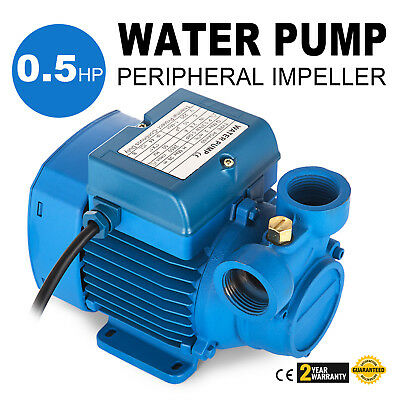 Electric Water Pump with peripheral impeller 2850 RPM 0.5Hp Centrifugal pump