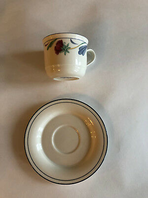 "Lenox  POPPIES ON BLUE Cup & Saucer  2 3/4"" - Excellent Condition - 10 Available"