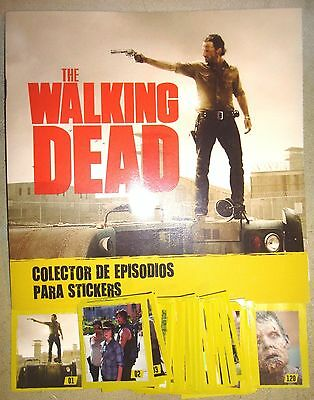 RARE The Walking Dead TV series Trading 120 Cards Binder 100% complete album