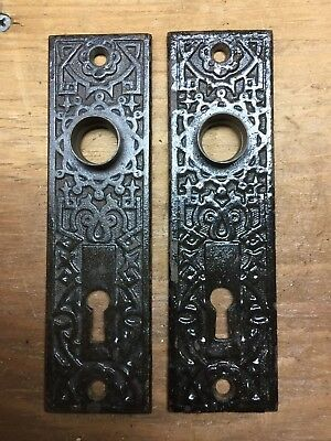 Old Pair Of Antique East Lk. Door Knob Backplates