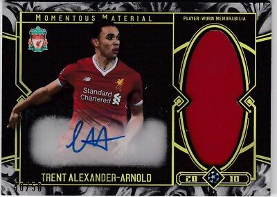 2017-18 Topps Museum Collection Uefa Auto Relic Gold Trent Alexander Arnold /50