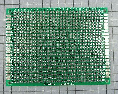 DIY DOUBLE-SIDE PLATED Thru Proto-type PCB Board, 4x6 CM