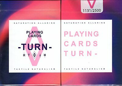 Turn Playing Cards Poker Size Deck USPCC BOCOPO Custom Limited Edition Sealed